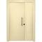 puerta de entrada / abatible / de acero galvanizado / de seguridad