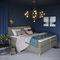 cama de matrimonio / individual / de diseño escandinavo / tapizada