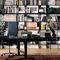 biblioteca moderna / de madera lacada / de roble