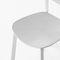 silla contemporánea / apilable / aluminio / de polipropileno
