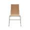 silla moderna / patín / de madera / de acero