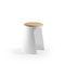 taburete contemporáneo / de polipropileno / de madera / para sala de espera