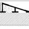 perfil de transición de latón