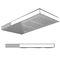 rociador de ducha empotrable de techo / rectangular / con iluminación integrada / con cromoterapia