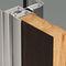 puerta de interior / abatible / de madera / de vidrio