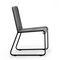silla moderna / patín / de acero inoxidable / de poliéster