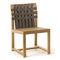 silla contemporánea / de teca / de poliéster / gris