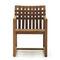 silla moderna / con reposabrazos / de teca / de poliéster