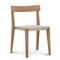 silla moderna / tapizada / apilable / de tejido