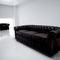 sillón de visita contemporáneo / de tejido / de cuero / con reposabrazos