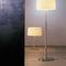 lámpara de pie / contemporánea / de metal / de lino
