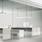 mesa de trabajo contemporánea / de MDF / rectangular / para oficina