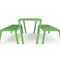 mesa de pícnic contemporánea / de madera exótica / de acero pintado / rectangular