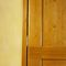 puerta de interior / de vaivén / de madera maciza / a ras