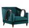 sillón clásico / de tejido / verde