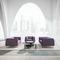sillón de visita contemporáneo / de tejido / de cuero / de haya