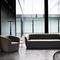 sillón de visita contemporáneo / de tejido / de cuero