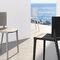 silla moderna / de polipropileno / de fibra de vidrio / de exterior
