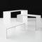 mesa de centro contemporánea / de fresno / de material laminado / rectangular