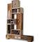 biblioteca modular / contemporánea / de madera / a medida