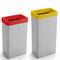 cubo de basura público / de acero con revestimiento en polvo / de plástico / contemporáneo