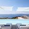 sombrilla lateral / para el sector servicios / Sunbrella® / de aluminio anodizado