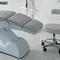silla de trabajo de vinilo / giratoria / con ruedas / tapizada