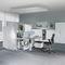 separador para oficina para suelo / de plástico / de acero / de tejido acústico