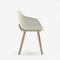 silla moderna / tapizada / de madera maciza / de bioplástico