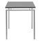 mesa de trabajo moderna / de acero / rectangular / para edificio público