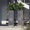 jardinera de acero inoxidable / cuadrada / contemporánea / para hotel