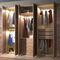 armario contemporáneo / de nogal / con puertas batientes