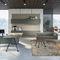 escritorio de director / madera / de melamina / de vidrio ahumado