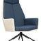 sillón contemporáneo / de tejido / de cuero / de acero con revestimiento en polvo