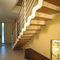 escalera recta / en L / estructura de metal / con peldaños de madera
