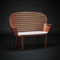 sillón de visita moderno / de metal / con reposabrazos / con respaldo alto