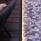tarima de exterior de madera de frondosa