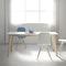 mesa de comedor contemporánea / de madera / rectangular / extensible