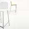 silla de bar contemporánea / tapizada / aluminio