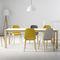 mesa de comedor moderna / de madera / cuadrada / extensible