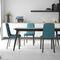 silla contemporánea / tapizada / de tejido / de acero lacado