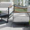 mesa de centro contemporánea / de acero inoxidable / rectangular / cuadrada