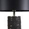 lámpara de mesa / contemporánea / de latón / de cuero
