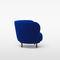 sillón contemporáneo / de tejido / marrón / azul