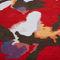 alfombra moderna / con motivos florales / de lana / rectangular