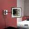 espejo de pared / con luz LED / de aumento / contemporáneo