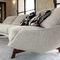 sofá contemporáneo / de tejido / de metal / 2 plazas