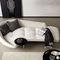 sofá contemporáneo / de tejido / de metal / con mesa integrada