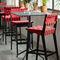 silla de bar contemporánea / tapizada / de algodón / Sunbrella®RISOMKnoll