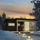 casa pasiva / de tipo bungalow / moderna / de madera